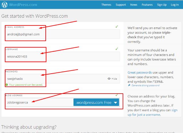 Jak założyć bloga na wordpress za darmo